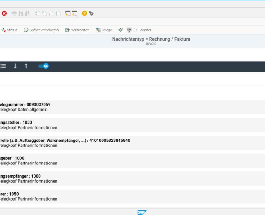 EPO IDoc Monitor für SAP App Rechnung