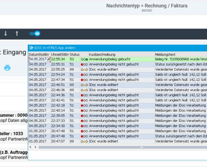 EPO IDoc Monitor für SAP Status